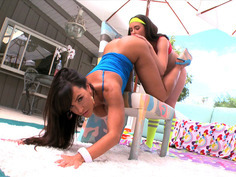 Lisa Ann getting her asshole tongued by Casey Calvert