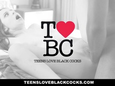 TeensLoveBlackCocks - Brunette Babe Fucks Big Black Cock For Cash