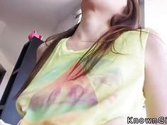 Huge tits teen doing huge dick pov