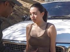 Latina was desperate to fucked big black cock