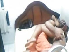 Arab wife filmed in secret when sucking cock