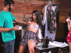 Gina Valentina plays with her pussy on the camera