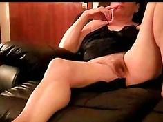 Spying milf Yasmine watching porn at home