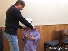 Blonde British Whore Sucking Cock