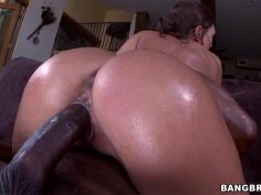 Huge ass Olivia fucked by big black dick