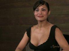 Gorgeous woman Beretta James is taking part in hardcore BDSM sex action