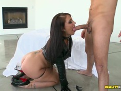 Madison Rose loves fucking in leather