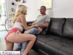 Erika Grace (Carolina Sweets) finds her friend's dad jerkin' off