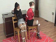Two girls in bondage