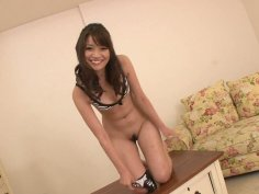 Peeing asian girl Banana Asada makes two guys cum