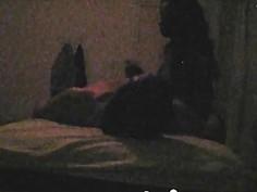 Horny interracial couple fucks hard in front of the hidden camera