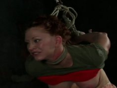 Well stacked redhead whore Catherine de Sade is abused in BDSM game
