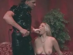 Kinky Girl in Latex Got Cum on Face!