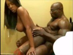 Ebony fitness couple