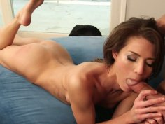 Sporty Jenni Lee sucks balls deep and gets drilled from behind