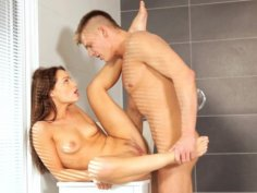 Lusty Sophie Lynx joins her man in the shower for a wet and wild blowjob that turns into a horny...